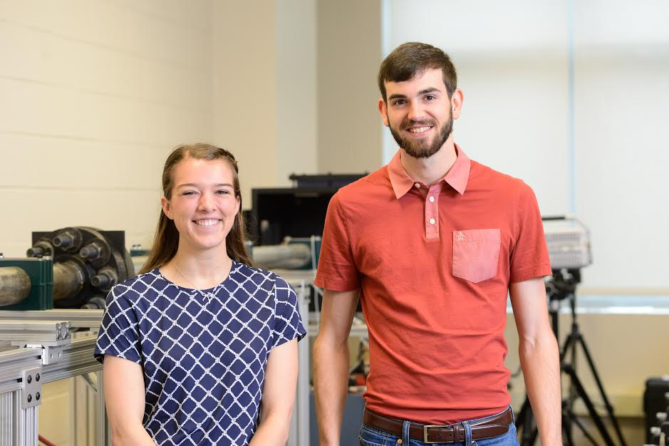 Ms. Samantha White and Mr. Tyler Goode, recipients of the NSF Graduate Research Fellowship
