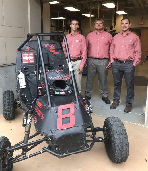 Baja team with vehicle.